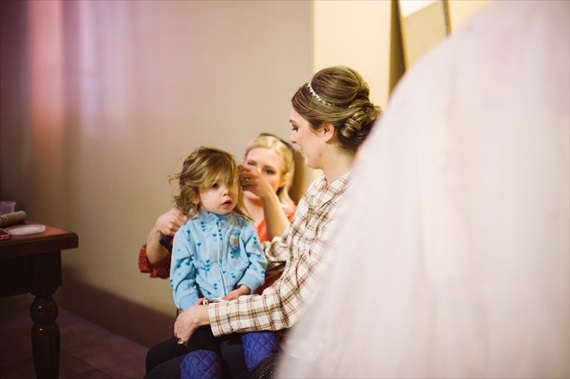 LaCoursiere Photography - bride getting ready with daughter