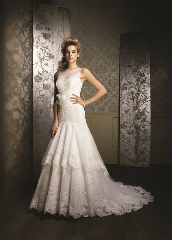 Vintage Inspired Wedding Gowns by the Alfred Angelo 2014 Collection - 1970s inspiration