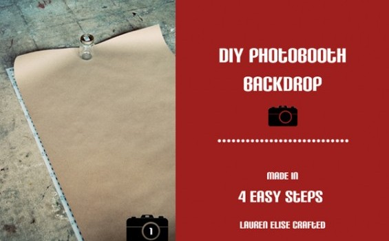diy photobooth backdrop