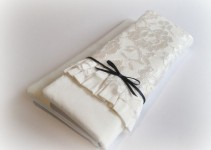 ivory lace clutch
