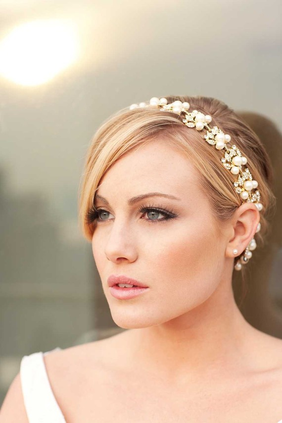 Handmade bridal headbands make a glamorous nofuss alternative to the