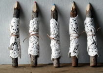 doily pencil twigs