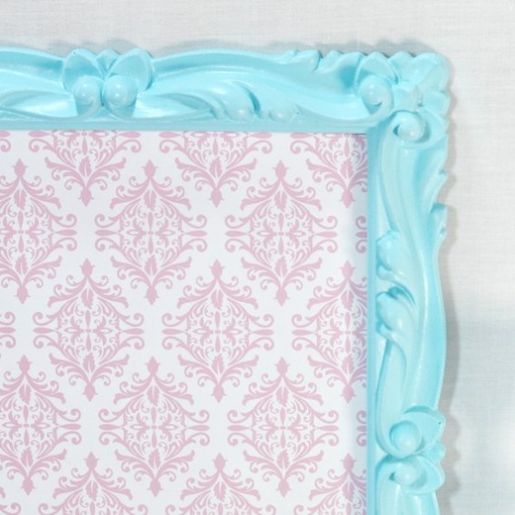 ornate blue picture frame