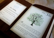 unique handmade wedding invitation