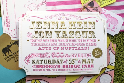 ticket wedding invitations