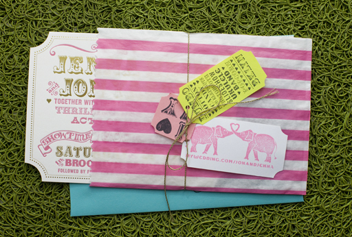 ticket wedding invitation