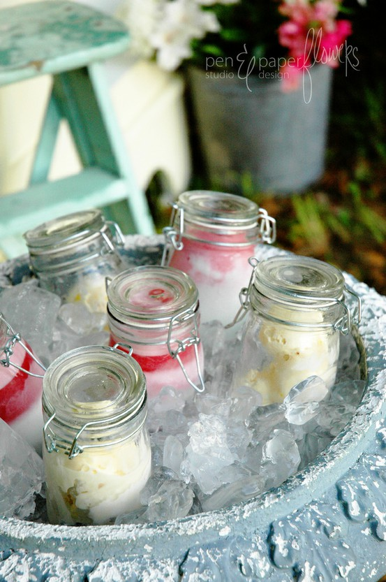 diy mason jar ice cream favors
