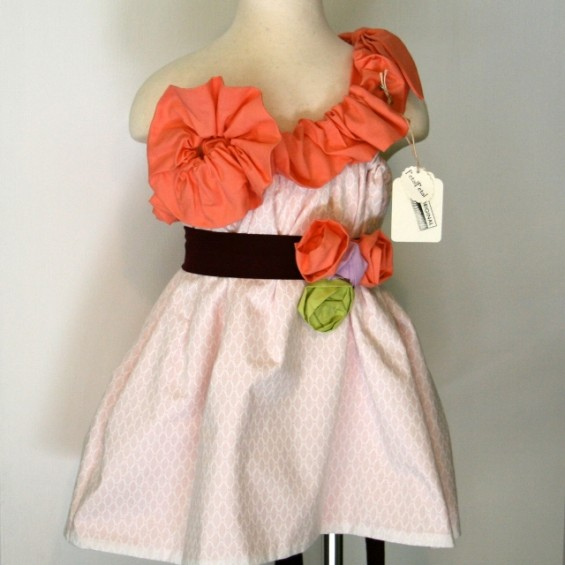 handmade flower girl dress by petalpetal designs