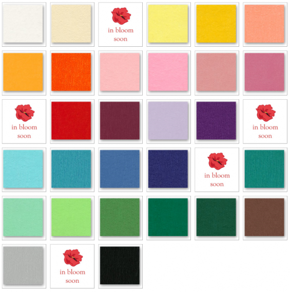 paper flower colors available