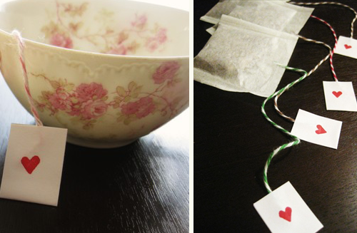 bridal shower teacups and custom diy tea bags