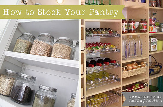 handmade wedding how to stock your pantry2 Newlywed Notes: How To Stock Your Pantry