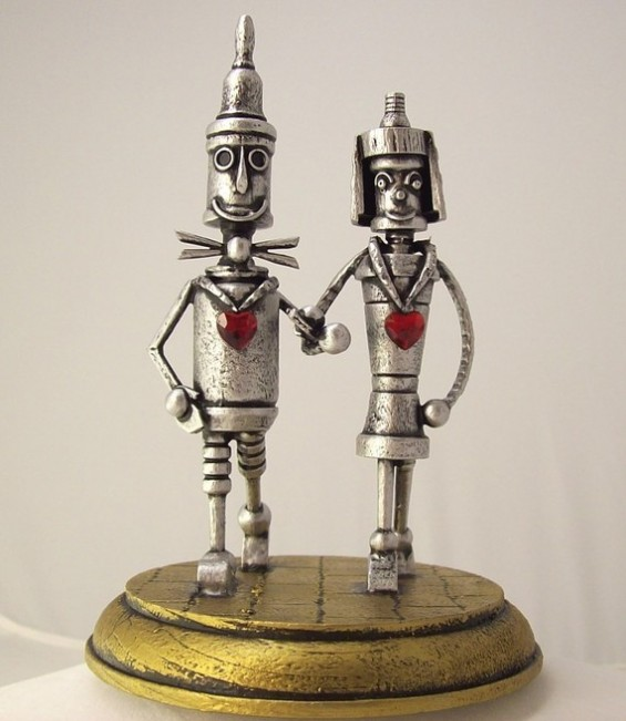 tin man robot cake toppers