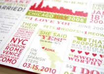 typography invitations