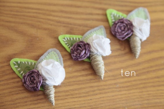 rustic boutonnieres - 10