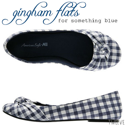 picnic wedding - gingham flats