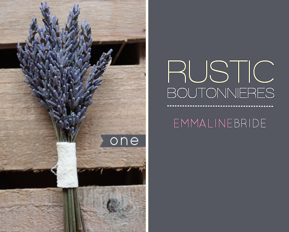 rustic boutonnieres - 1