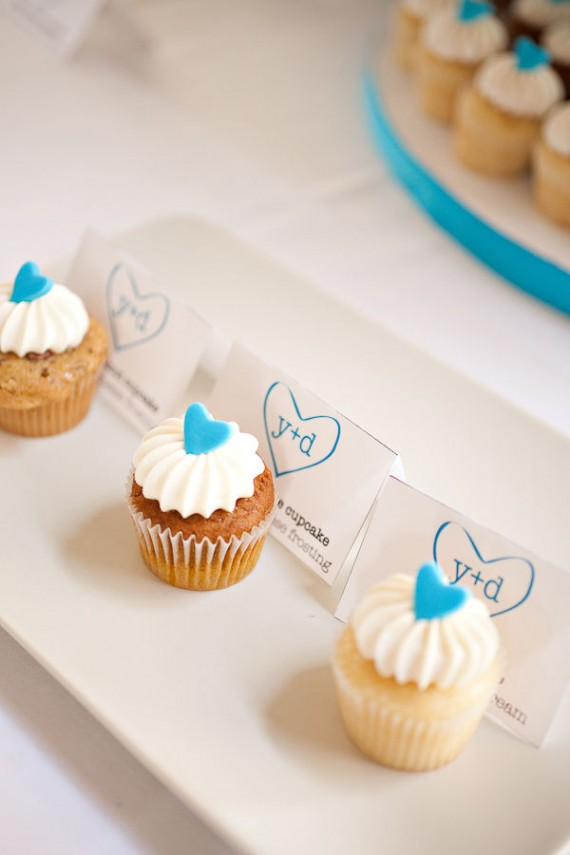 real wedding details - cupcakes for sweets table