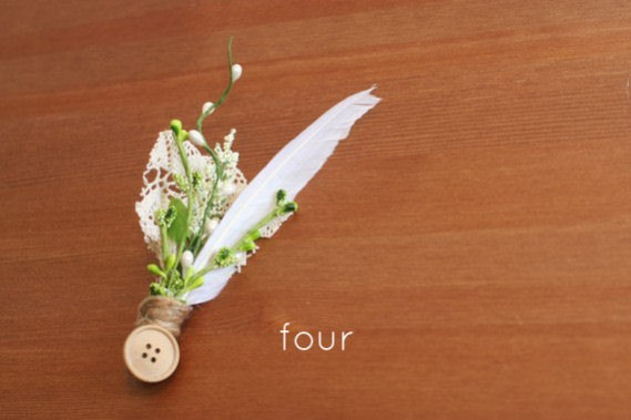 rustic boutonnieres - 4