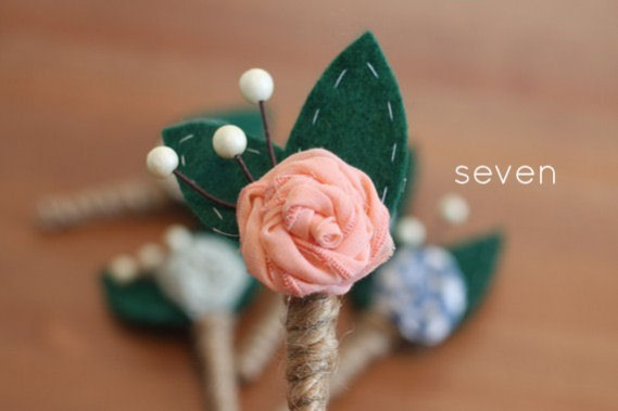 rustic boutonnieres - 7