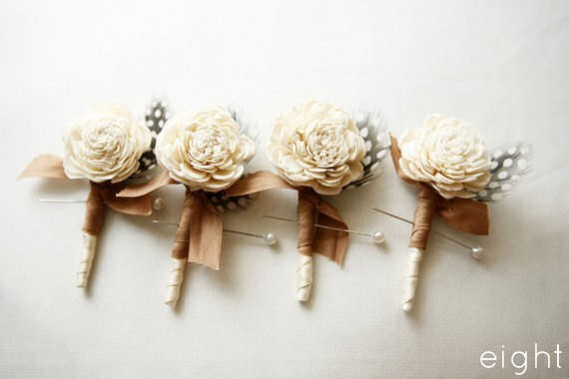 rustic boutonnieres - 8