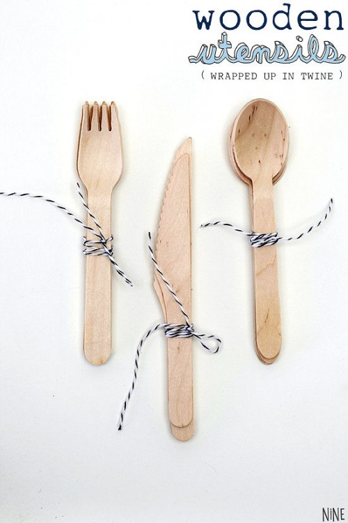 picnic wedding - wooden utensils