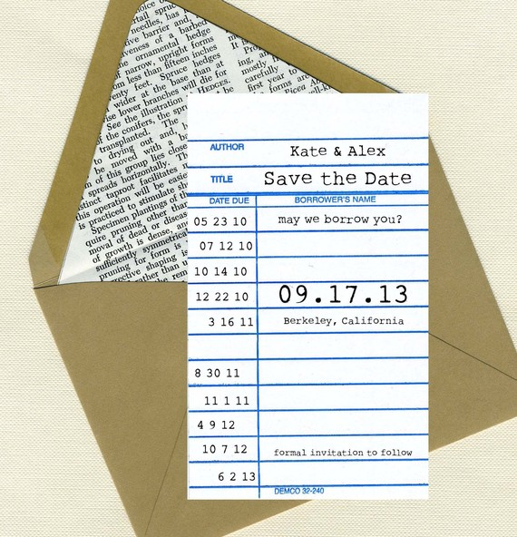 Library Card Save The Date