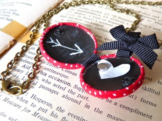 bridesmaid locket with chalkboard inside