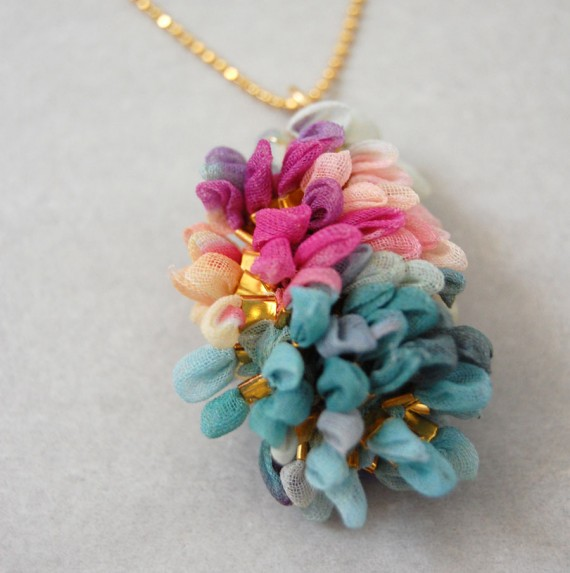 chiffon pendant up close