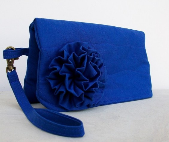 royal blue clutch purse