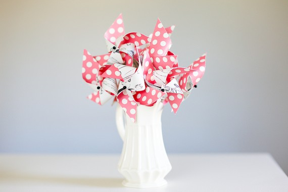 pinwheel centerpieces for bridal showers 1