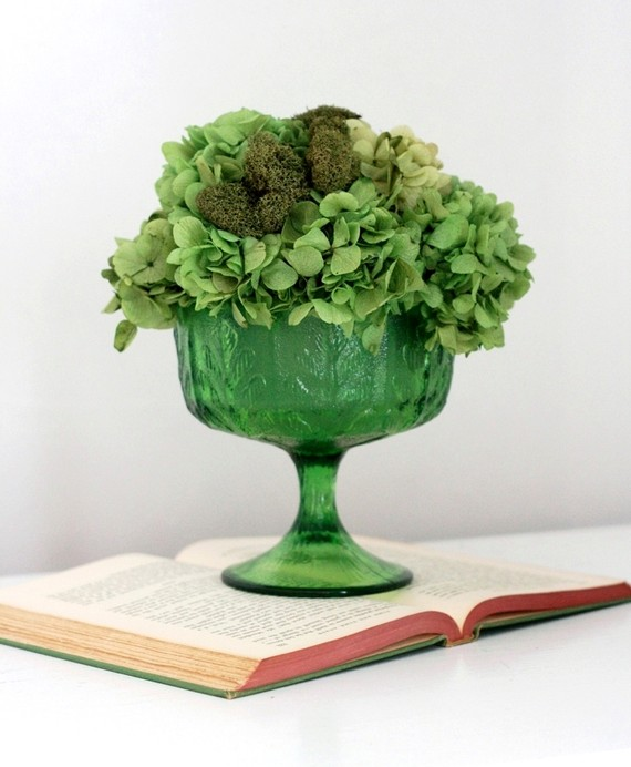 green unique wedding centerpieces