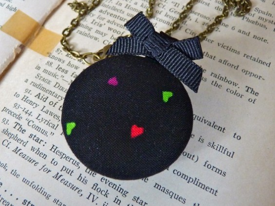 bridesmaid locket with hearts