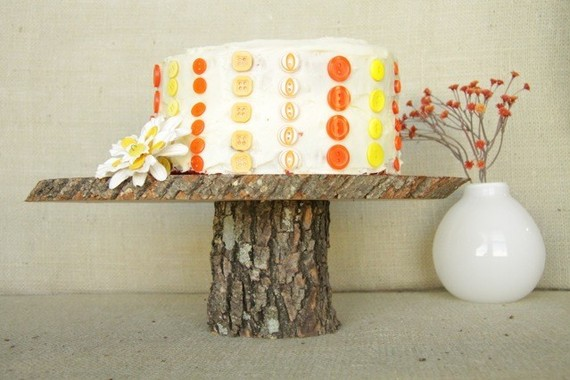 wooden cake plates - 1