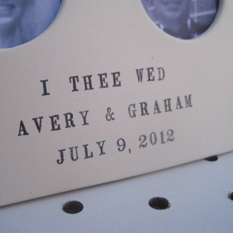 wedding giveaway - enter to win a custom double picture frame