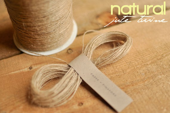 natural jute twine for rustic card box