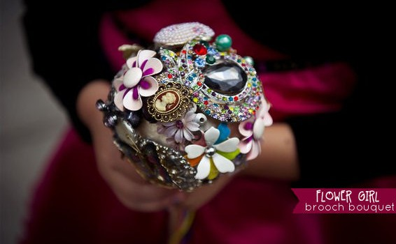 brooch bouquet for flower girls