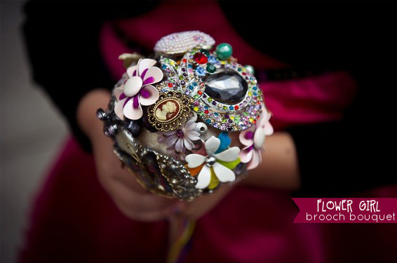brooch bouquet for the flower girl