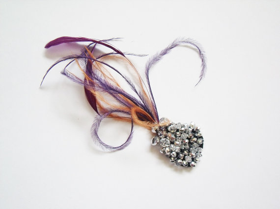 mini feather fascinators