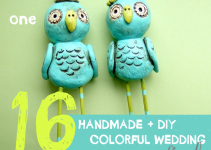 colorful handmade wedding