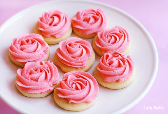 diy rose cookies