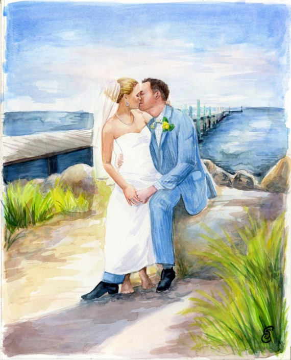 custom wedding portraits