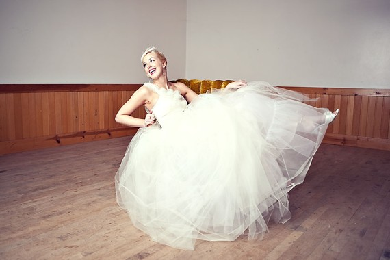 tulle wedding ball gown
