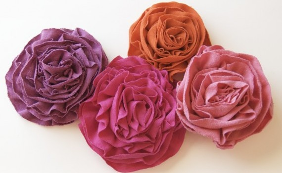 diy rosettes from t-shirts