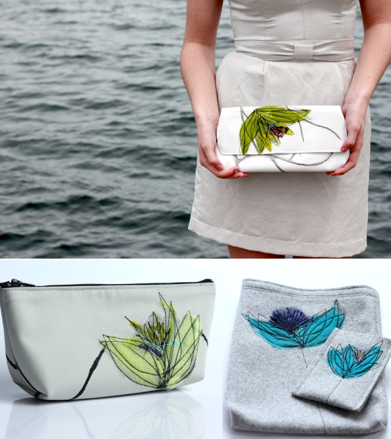handmade bridesmaid clutches