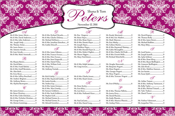 handmade wedding il 570xN.248417478 Wedding Seating Chart:  Why You Need One