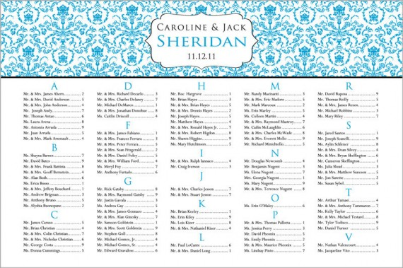 handmade wedding il fullxfull.2494252461 e1311614073311 Wedding Seating Chart:  Why You Need One
