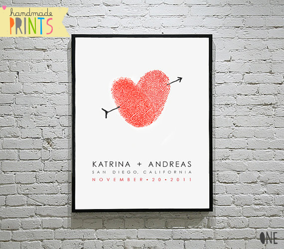handmade wedding prints