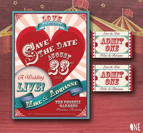 Circus Wedding Inspiration - invitation