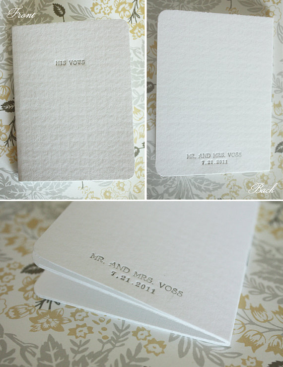 wedding vow book