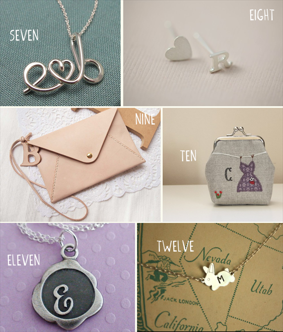 bridesmaid initial necklaces